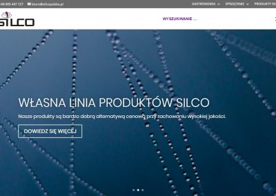 Silcopolska - Wyszukiwarka produktowa w menu